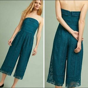 Anthropologie Greylin Stowe Lace Jumpsuit